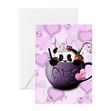 cute_hot_chocolate_panda_by_hazey198 Greeting Card