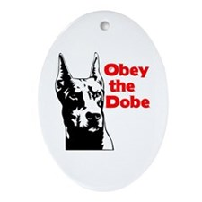 Obey the Dobe Oval Ornament
