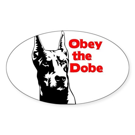 Obey the Dobe Oval Sticker