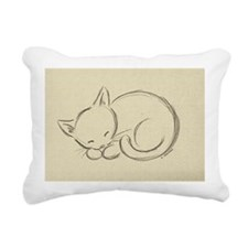 sleepykitten Rectangular Canvas Pillow