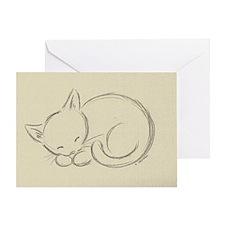sleepykitten Greeting Card