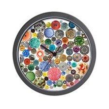Buttons Square 8x8 Wall Clock