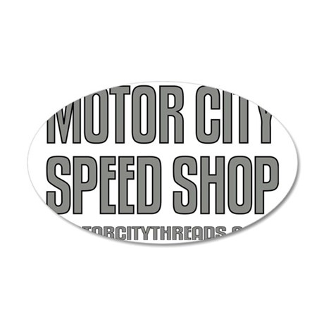 mch speed shop clear2 FRT 35x21 Oval Wall Decal