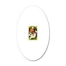 Seasonal Jack Russell 20x12 Oval Wall Decal