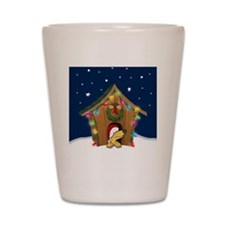 xmasdoghouseO Shot Glass