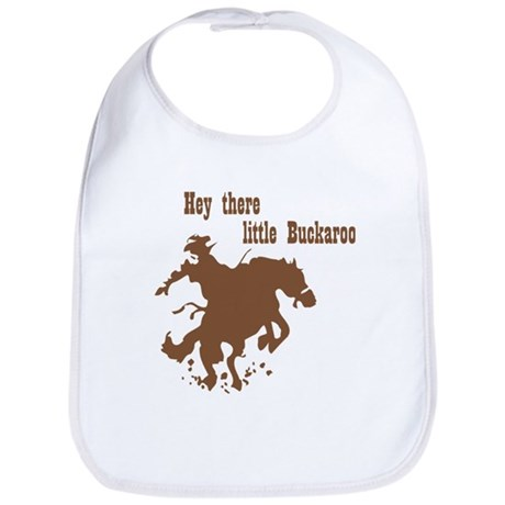 Retro Buckaroo Cowboy Western Bib