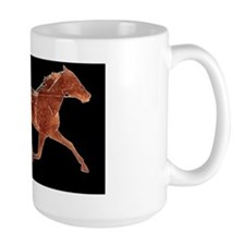 BrownTrotterBlackBgd Coffee Mug