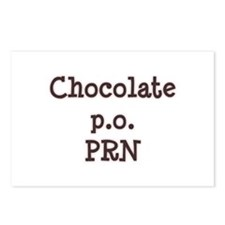Chocolate p.o. PRN Postcards (Package of 8)