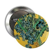 "Irises by Vincent van Gogh 2.25"" Button"