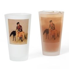 BoyandDeerhound Drinking Glass