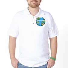 think globally 3.5 button T-Shirt