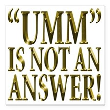 "Umm Square Car Magnet 3"" x 3"""