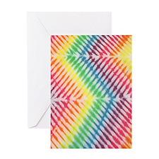 Zig Zag Rainbow Tie Dye Greeting Card