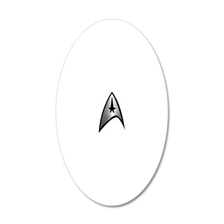 trek silver reflect 20x12 Oval Wall Decal
