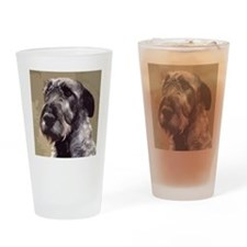 IrishWolfhoundCutOutHead Drinking Glass