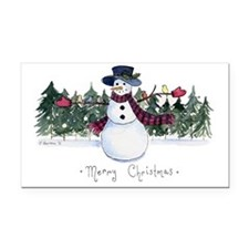 xmas card-front Rectangle Car Magnet
