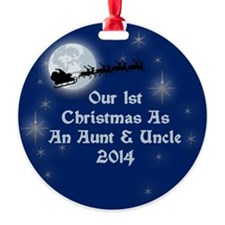 1St Christmas As An Aunt And Uncle 2014 Ornament