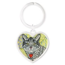 cat-gray-tabby-heart-colors-1-5.25 Heart Keychain
