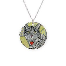 cat-gray-tabby-heart-colors- Necklace