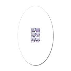 Jackpot Bingo Cards shirt 2 20x12 Oval Wall Decal