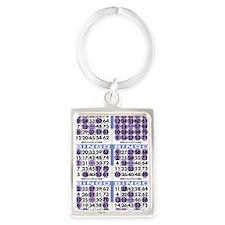 Jackpot Bingo Cards shirt 2 Portrait Keychain