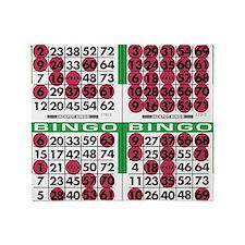 Jackpot Bingo Cards 1 bag Throw Blanket