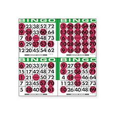 "Jackpot Bingo Cards 1 bag Square Sticker 3"" x 3"""