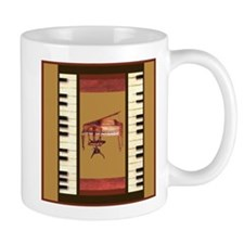 Piano Keys Federal Piano square Mugs
