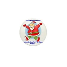 Santa Bills 10x10 Mini Button