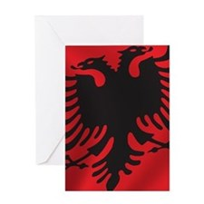 albania_flag Greeting Card