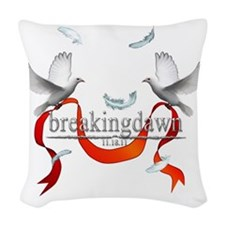 Breakingdawn White Doves Woven Throw Pillow