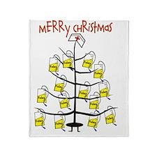 Merry Christmas Nurse Tree Foley Bag Throw Blanket