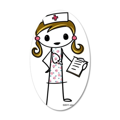 nurse 35x21 Oval Wall Decal