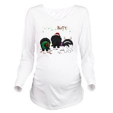 NewfieShirtDark Long Sleeve Maternity T-Shirt