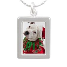 Pit Bull Tia Silver Portrait Necklace