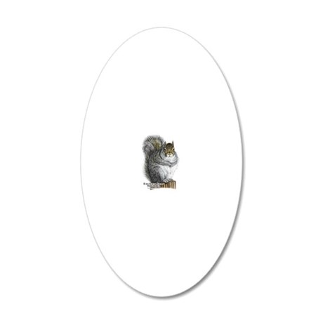Eastern Gray Squirrel 20x12 Oval Wall Decal