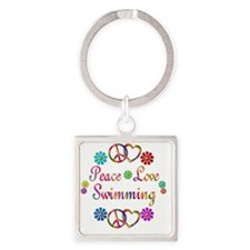 swim Square Keychain