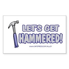 Hammered Rectangle Decal