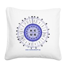 Genetic code (blue) Square Canvas Pillow
