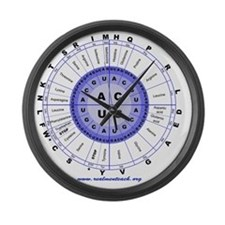Genetic code (blue) Large Wall Clock