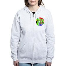 Soccer Elephant round Zip Hoodie