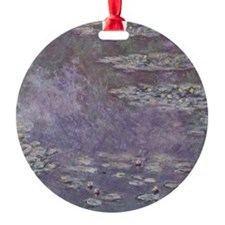 Water Lilies by Monet Round Ornament