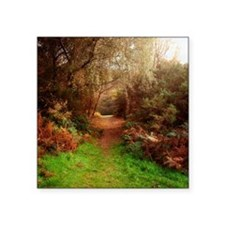 "Autumn Path Square Sticker 3"" x 3"""