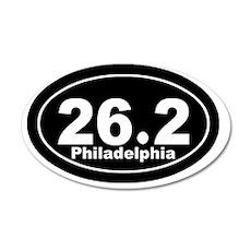 262_Philadelphia_blk 35x21 Oval Wall Decal