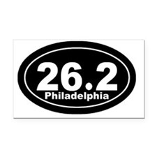 262_Philadelphia_blk Rectangle Car Magnet