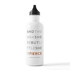 She is Fierce 5x8 Water Bottle