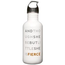 She is Fierce 10x14 Water Bottle