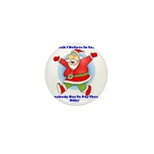 Santa Bills 10x10 Clr Mini Button
