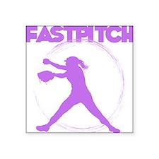 "lavendar, fastpitch Square Sticker 3"" x 3"""