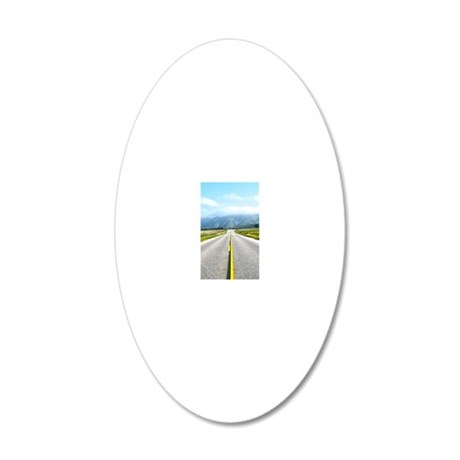 slider-Empty Road 20x12 Oval Wall Decal